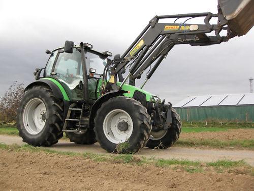 deutz fahr agrotron 120 traktor schlepper frontlader traktoren landwirtschaftl fahrzeuge. Black Bedroom Furniture Sets. Home Design Ideas