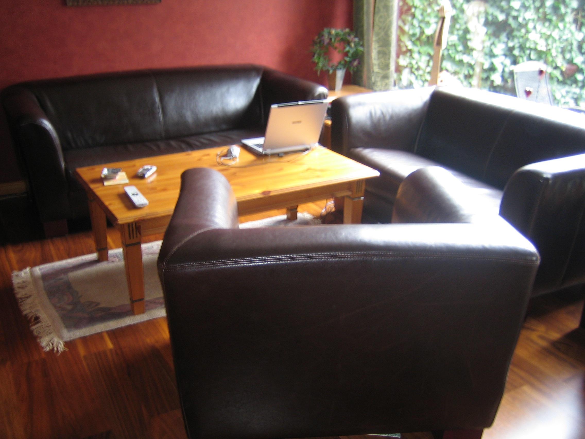 leder polstergarnitur 3 2 1 pull up leder polster. Black Bedroom Furniture Sets. Home Design Ideas