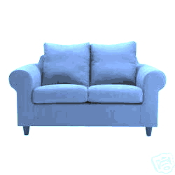 sofa ikea fothult blau m bel haushalt polster sessel couch. Black Bedroom Furniture Sets. Home Design Ideas